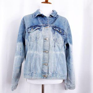 GAP Womens XL Blue Cotton Jean Jacket
